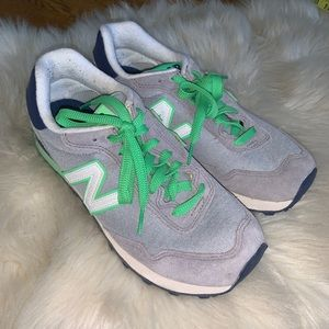 New balance 515 sneakers gray green suede size 8